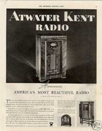 Atwater Kent Radio Ad Model 510 (1933)