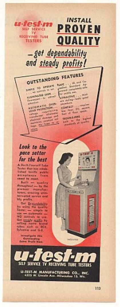 U-Test-M TV Television Tube Tester (1957)