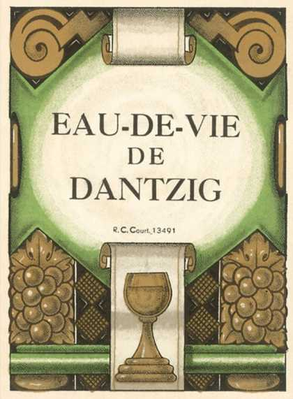 Dantzig Brandy Label
