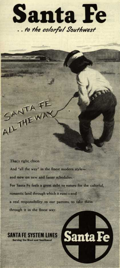 Santa Fe System Lines – Santa Fe... to the colorful Southwest (1946)