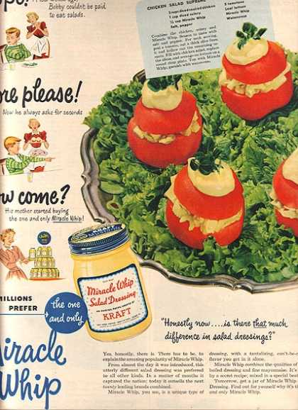 Kraft's Miracle Whip Salad Dressing (1950)
