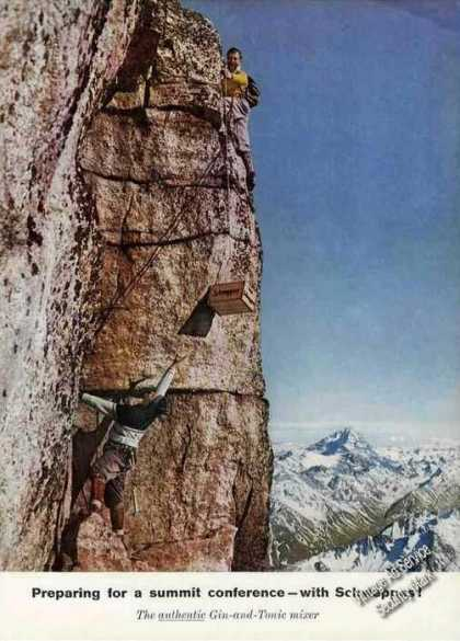 Schweppes Summit Conference Mountain Climbing (1958)