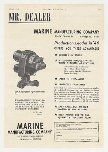 Marine Manufacturing Oil Burner Heating (1947)