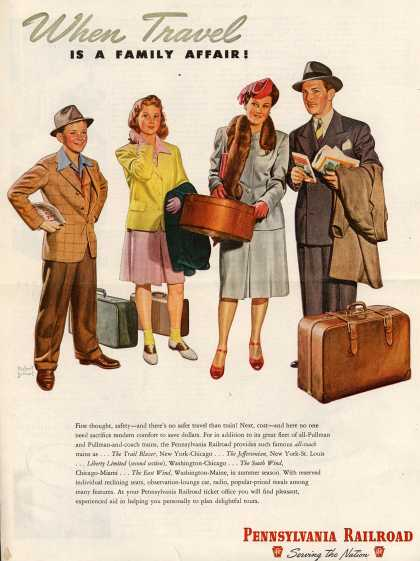 Pennsylvania Railroad – When Travel Is A Family Affair (1946)