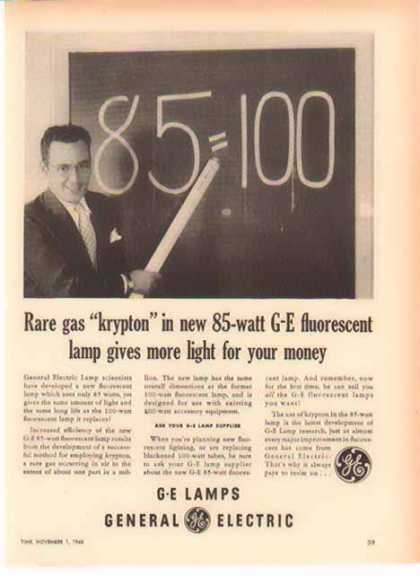 General Electric – Krypton In New GE Lamps (1948)