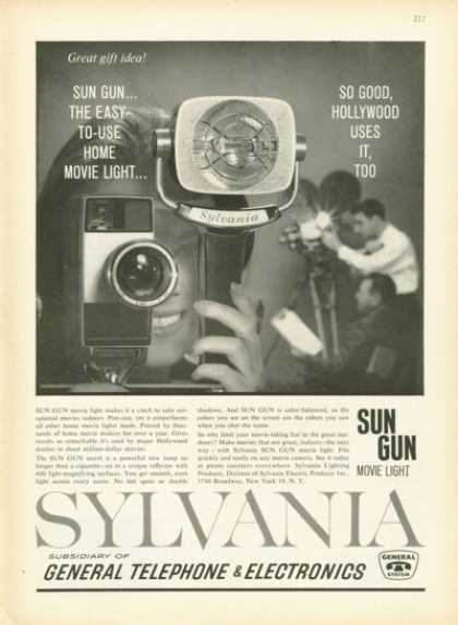 Sylvania Sun Gun Movie Camera Light (1961)
