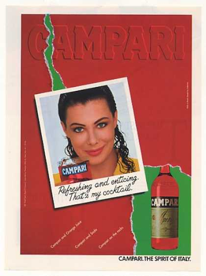Kelly Le Brock Campari Liqueur Photo (1988)