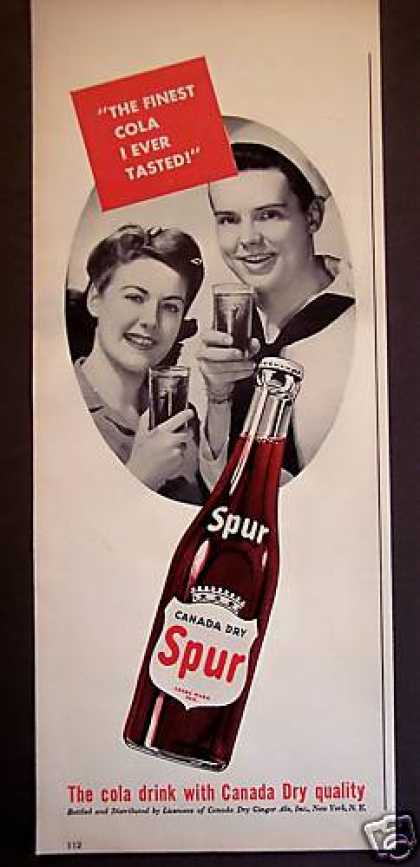 Canada Dry Spur Cola Soft Drink Soda (1943)