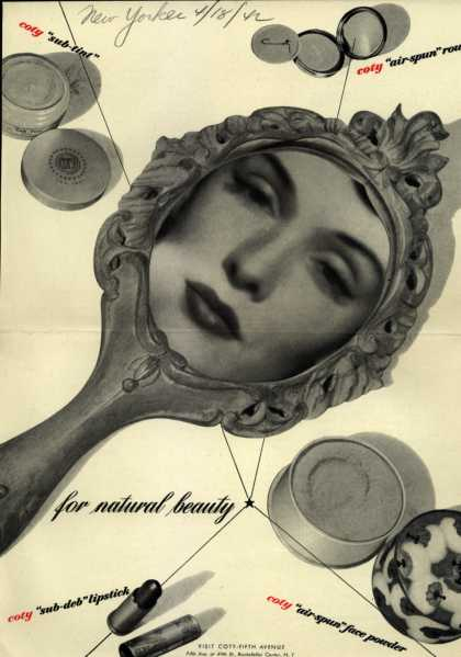 Coty's Cosmetics – for natural beauty (1942)