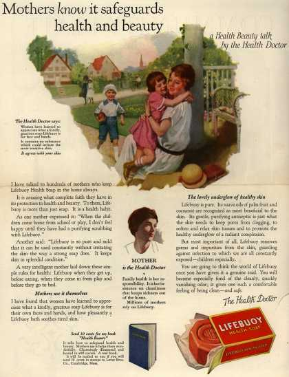 Lever Brothers Company's Lifebuoy Health Soap – Mothers know it safeguards health and beauty. a Health Beauty talk by the Health Doctor. (1924)