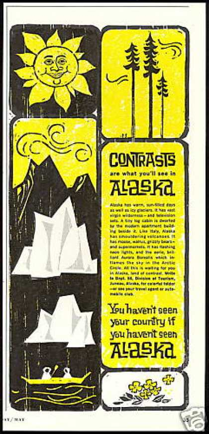 Alaska Travel Glaciers Sun Trees (1962)
