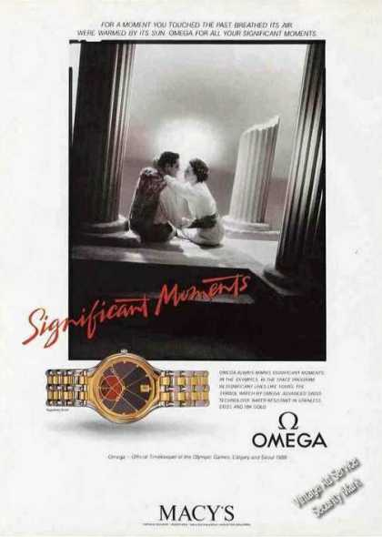 "Omega Wristwatch ""Significant Moments"" Macy's (1988)"