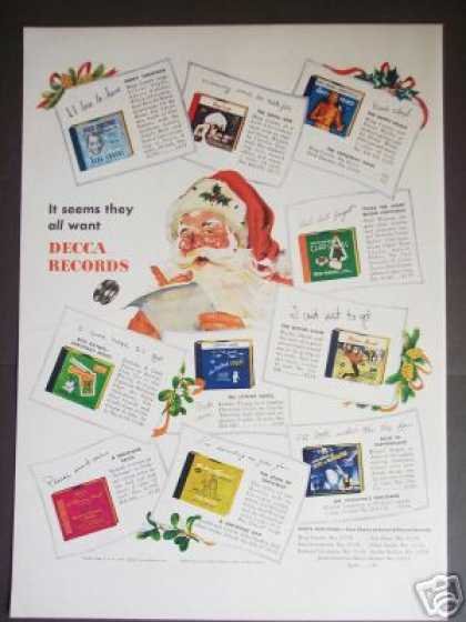 Decca Records Christmas Music Santa (1947)