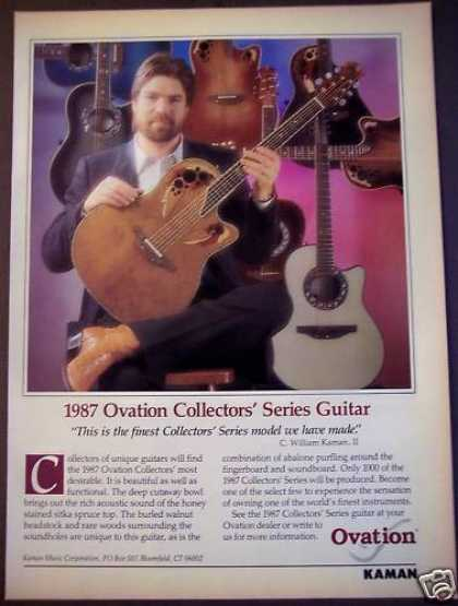 Ovation Collectors' Series Guitar By Kaman (1987)