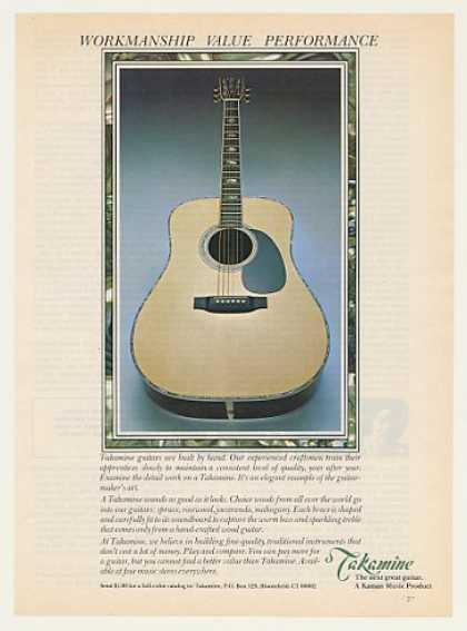 Takamine Guitar Workmanship Value Performance (1979)
