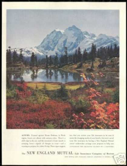 Washington Mt Shuksan Photo New England Mutual (1951)