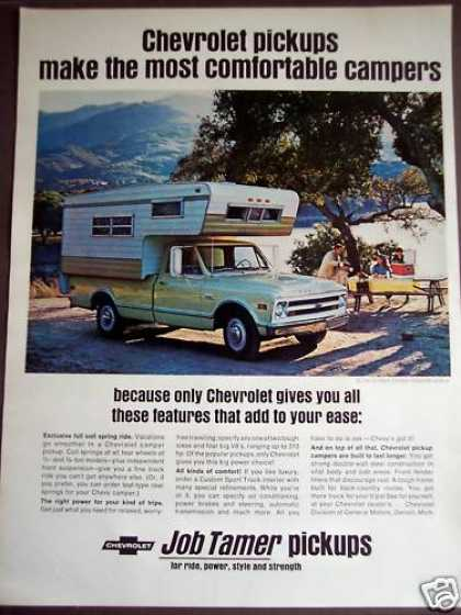 Chevrolet Camper Pickup Trucks (1968)