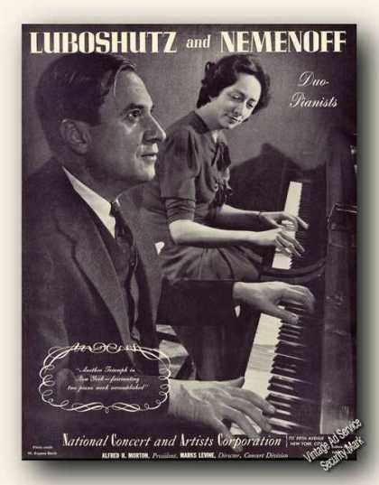 Luboshutz & Nemenoff Photo Duo-piano (1942)