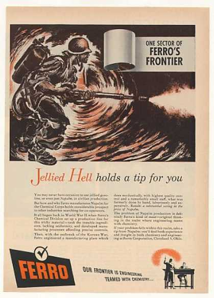 Ferro Jellied Hell Napalm Military Soldier (1951)