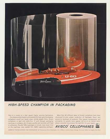 Miss Lynne U-60 Hydroplane Avisco Cellophane (1963)