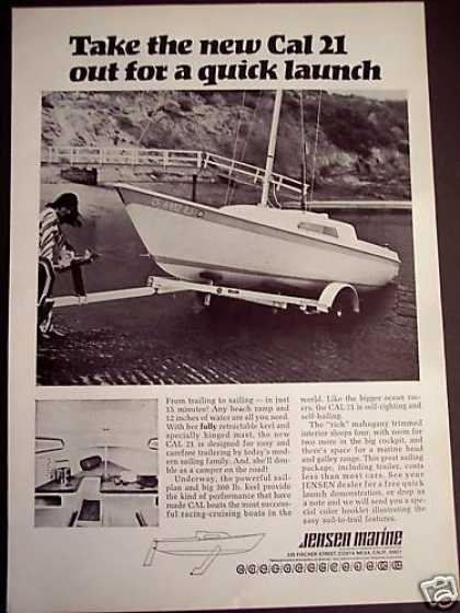 Jensen Marine Cal 21 Sailboat Photo (1969)