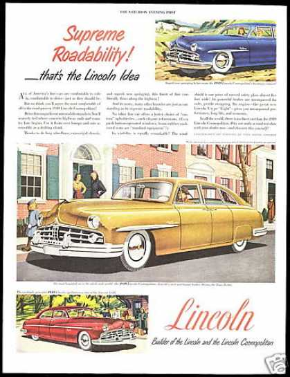 Lincoln & Cosmopolitan 3 Car Vintage Pint (1949)
