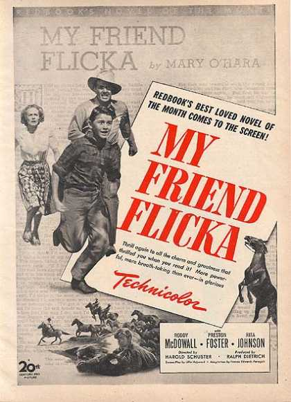 My Friend Flicka (Roddy McDowall, Preston Foster and Rita Johnson) (1943)
