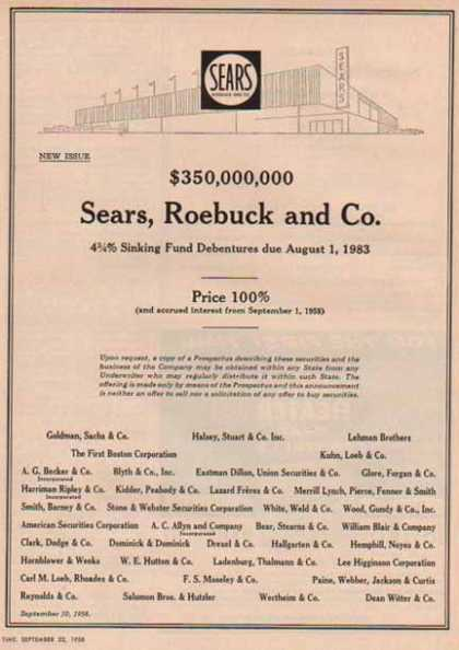 Sears, Roebuck and Company (1958)