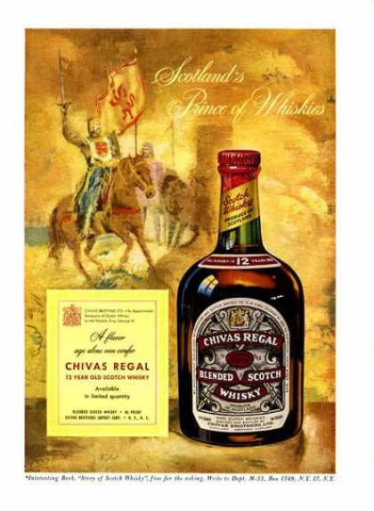 Chivas Regal Scotch Whisky Knight On Horseback (1952)