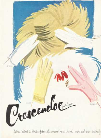 Superb Crescendoe Fashion Gloves (1955)