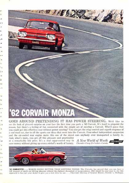 Corvair Monza Corvette On the Road (1962)
