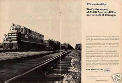 Alco Ad Belt Railway of Chicago C-424 #603 (1966)