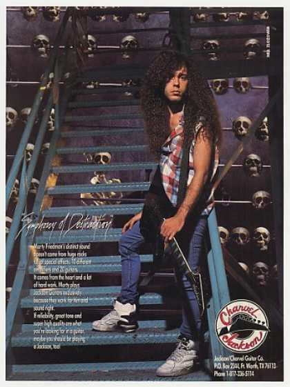 Marty Friedman Charvel Jackson Guitar Photo (1993)