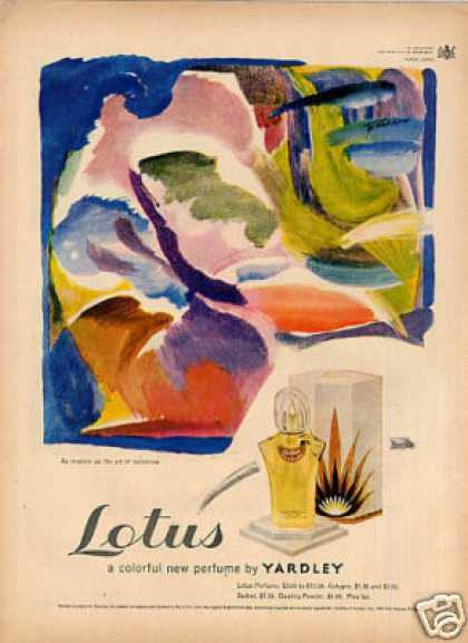 Yardley Lotus Perfume (1949)