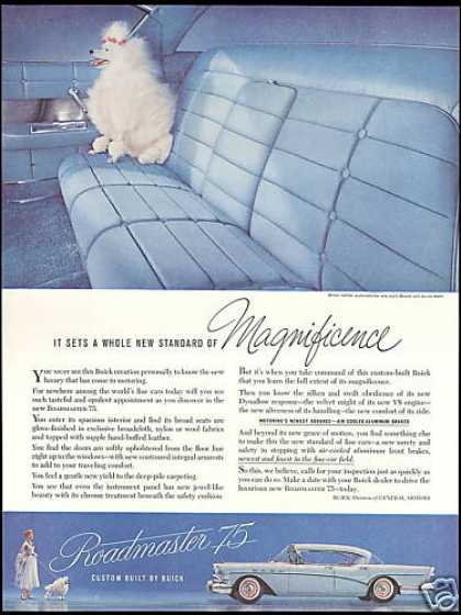 White Poodle Dog Buick Roadmaster 75 Car (1957)
