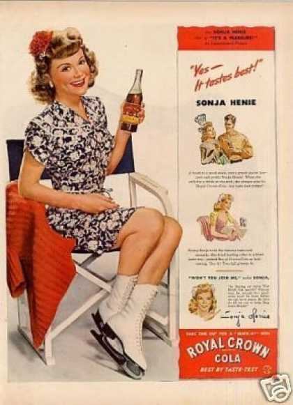 Royal Crown Cola Ad Sonja Henie (1944)
