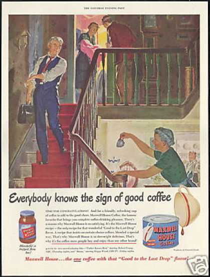 Doctor Baby Delivery Maxwell House Coffee (1950)