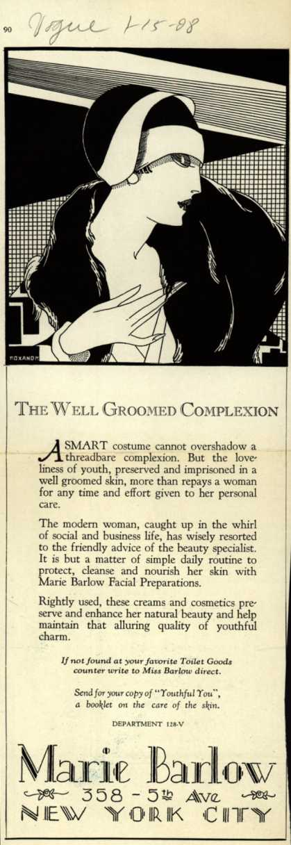 Marie Barlow – The Well Groomed Complexion (1928)