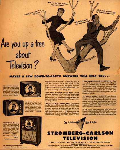 Stromberg-Carlson Television's various – Are you up a tree about Television? (1949)