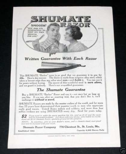 Old , Shumate Razor, Smooth (1918)