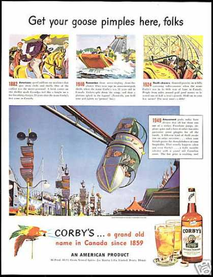 Amusement Park Rides Corby's Whiskey (1949)