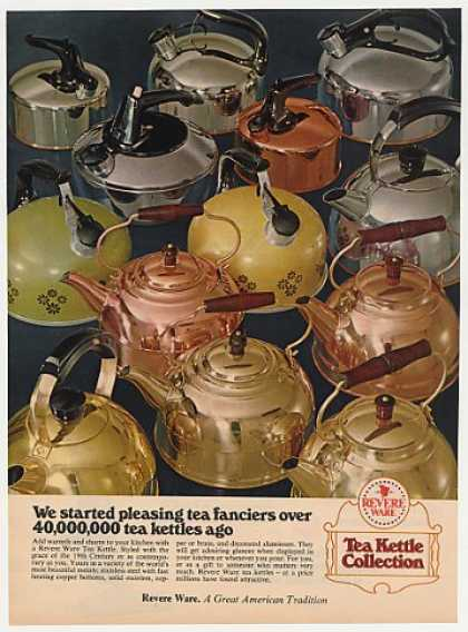 Revere Ware Tea Kettle Collection Photo (1972)