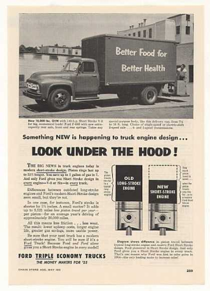 Ford F-600 Delivery Van Triple Economy Truck (1955)