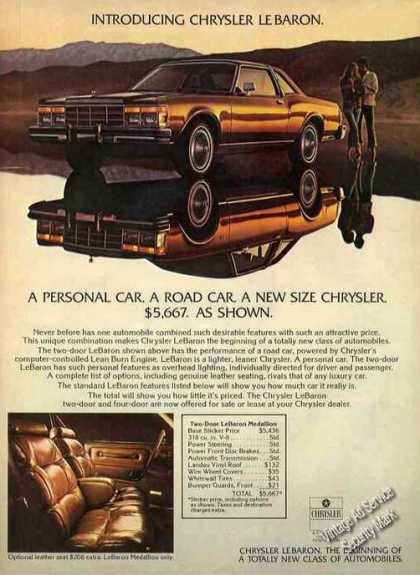 Chrysler Lebaron Nice Introductory (1977)