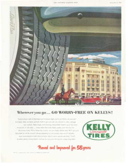 Kelly Whitewall Tire Yankee Stadium (1952)