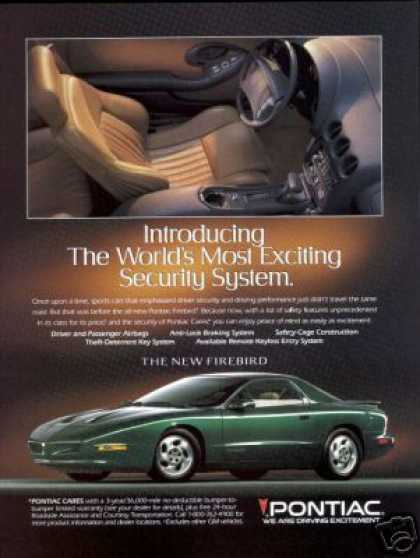 Green Pontiac Firebird Tan Interior Photo (1994)