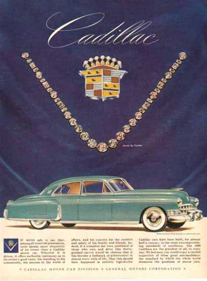 Cadillac Car – Green with Diamonds – Sold (1949)