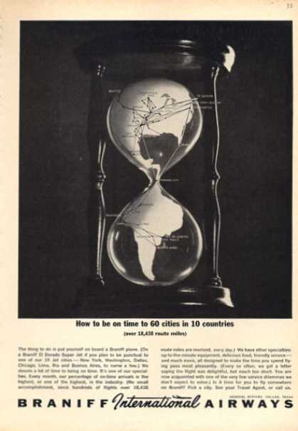 Braniff International Airway World Hour Glass (1963)