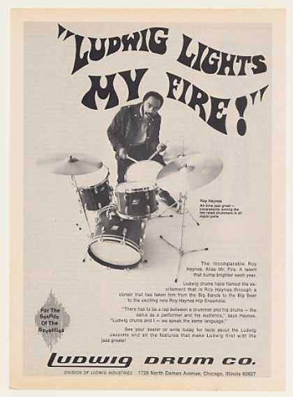 Roy Haynes Ludwig Drums Photo (1970)