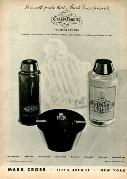 Mark Cross Country Men Toiletries (1946)